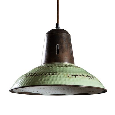 Corduff 1-Light Inverted Pendant Finish: Vintage Green