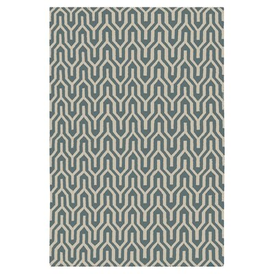 Fallon Hand-Woven Khaki Green/White Area Rug Rug Size: Rectangle 5 x 8