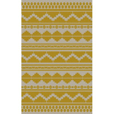 Charleville Gold Geometric Exquisite Area Rug Rug Size: Rectangle 36 x 56