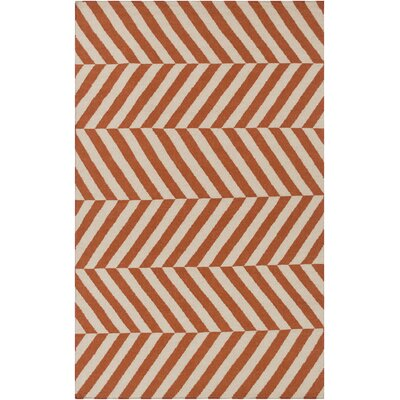 Diego Rust/Ivory Area Rug Rug Size: Rectangle 36 x 56