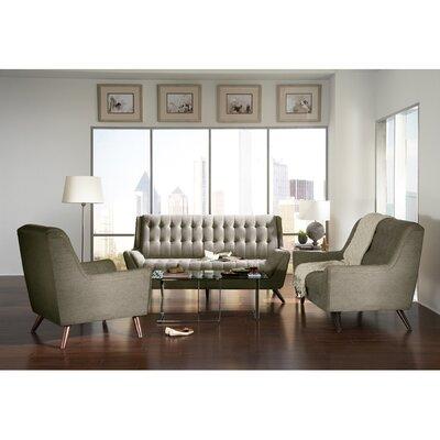 Modern Loveseat Upholstery: Grey