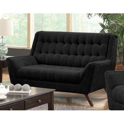 Modern Loveseat Upholstery: Black