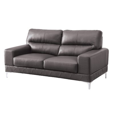 Loveseat Upholstery: Grey