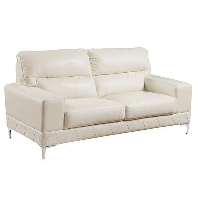 Loveseat Upholstery: White