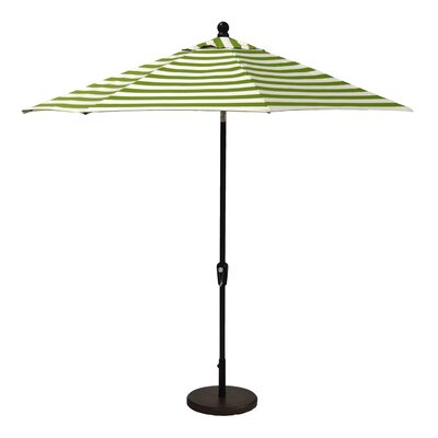 11 Market Umbrella Fabric: Spectrum Sand, Frame Finish: Champagne
