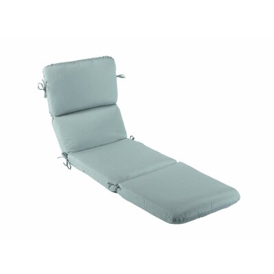 Canvas Outdoor Sunbrella Chaise Lounge Cushion Fabric: Canvas Spa