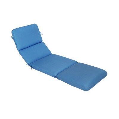 Canvas Outdoor Sunbrella Chaise Lounge Cushion Fabric: Canvas Capri