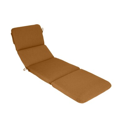 Canvas Outdoor Sunbrella Chaise Lounge Cushion Fabric: Canvas Teak