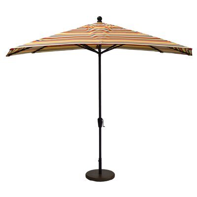 10 Market Umbrella Fabric: Canvas Spa, Frame Finish: Champagne