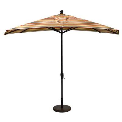Wildon Home 10' Hexagon Umbrella - Fabric: Canvas Spa, Frame Finish: Woodgrain