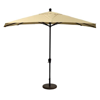 10 Market Umbrella Fabric: Spectrum Sand, Frame Finish: Black