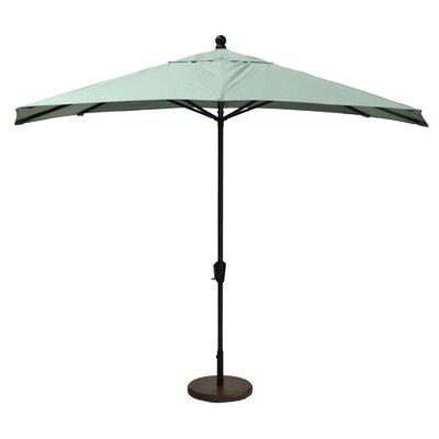 10 Market Umbrella Fabric: Canvas Spa, Frame Finish: Black