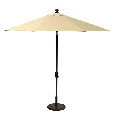 9 Market Umbrella Fabric: Spectrum Sand, Frame Finish: Black