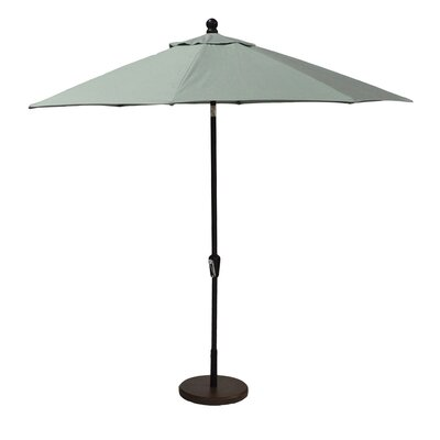 9 Market Umbrella Fabric: Canvas Spa, Frame Finish: Black
