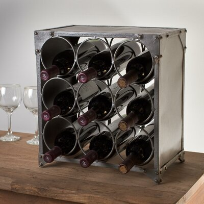 9 Bottle Tabletop Wine Rack