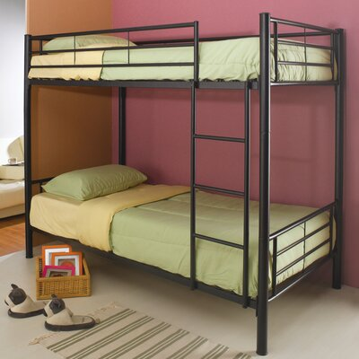 Eightmile Twin Bunk Bed Finish: Black