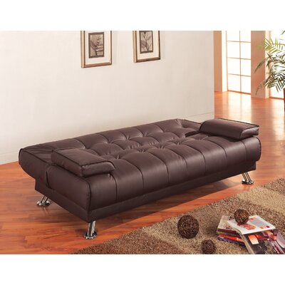 300148 CST1140 Wildon Home Convertible Sofa in Rich Brown