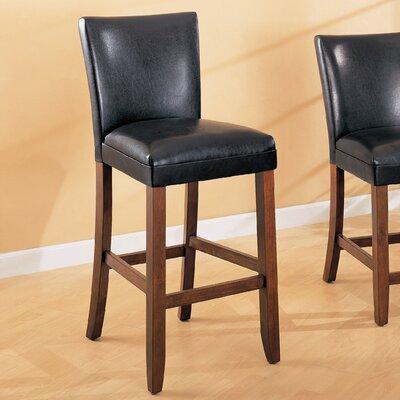Soho 24 Bar Stool Upholstery: Black