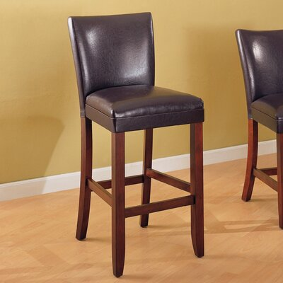 Telegraph 29 Bar Stool Upholstery: Brown