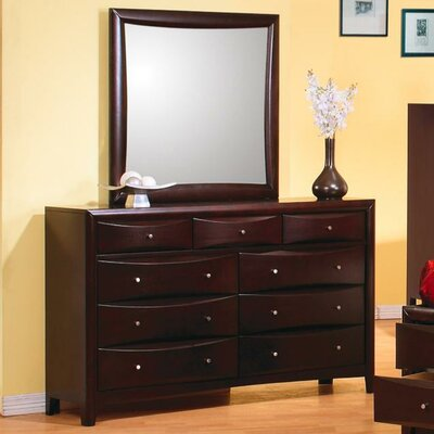 Gabby 9 Drawer Dresser with Mirror