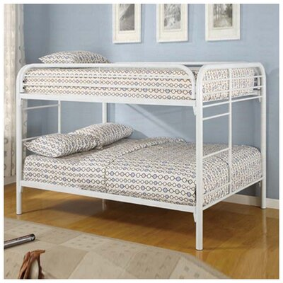 Sacramento Full over Full Bunk Bed Finish: White