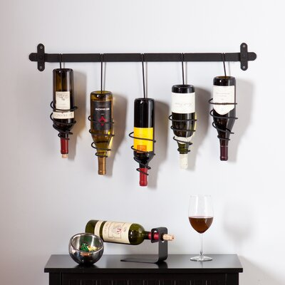 Justis 5 Bottle Wall Mounted Wine Rack