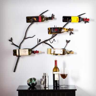Kerrigan 6 Bottle Wall Mounted Wine Rack