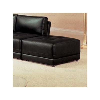 Grove Ottoman Upholstery: Black