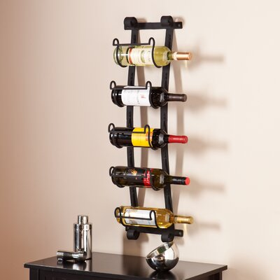 Bondville 5 Bottle Wall Mounted Wine Rack