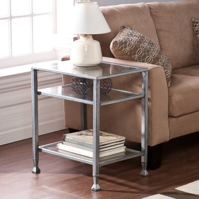 Collingdale End Table Color: Silver
