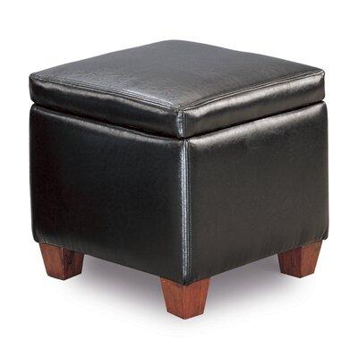 Caseyville Storage Ottoman Upholstery: PVC Black