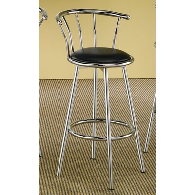 29 Bar Stool Upholstery: Chrome