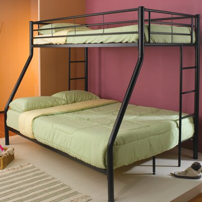 Elgin Twin over Full Bunk Bed Color: Black