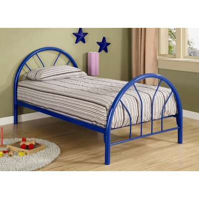 Fairbanks Twin Slat Bed Color: Blue