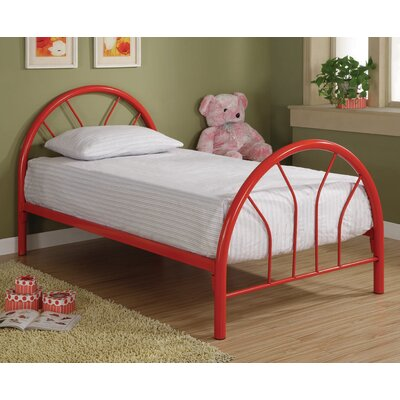 Fairbanks Twin Slat Bed Color: Red