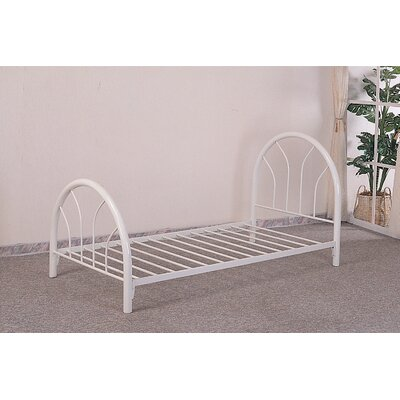 Fairbanks Twin Slat Bed Color: White
