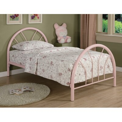Fairbanks Twin Slat Bed Color: Pink