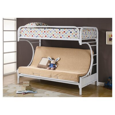 Fall Creek Twin Over Full Bunk Bed Color: White