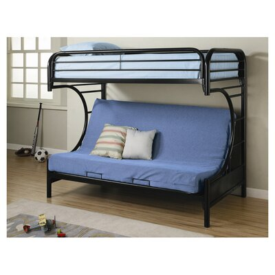 Fall Creek Twin over Full Futon Bunk Bed Finish: Black