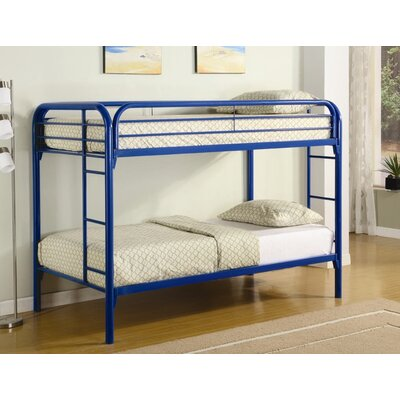 Framington Twin over Twin Bunk Bed Color: Blue