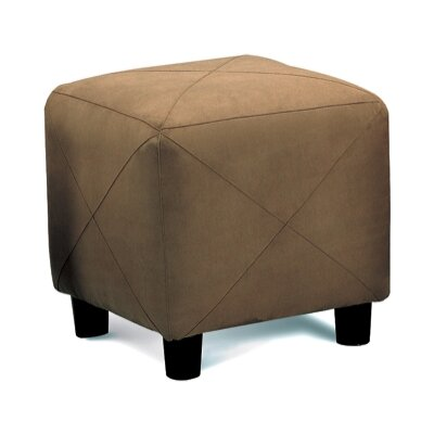 Cube Ottoman Upholstery: Brown