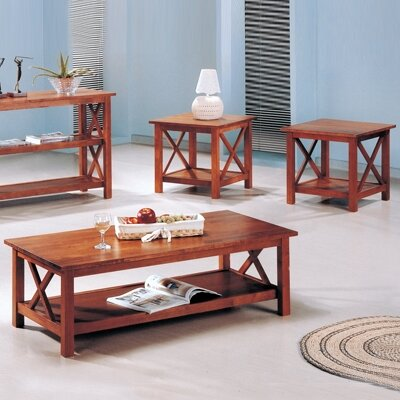 Independence 3 Piece Coffee Table Set Finish: Light Oak