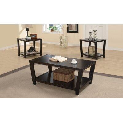 Amalga Angled 3 Piece Coffee Table Set Finish: Rich Cappucino