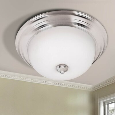Bonniview Flush Mount Size / Energy Star: 5.5 H x 11.31 W / Yes, Finish: Brushed Steel