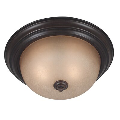 Laurel Flush Mount Size / Energy Star: 5.75 H x 13.25 W / Yes, Finish: Oil Rubbed Bronze