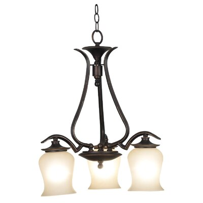Bienville 3-Light Shaded Chandelier