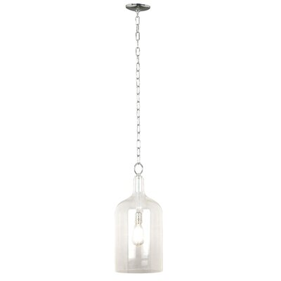 Capri 1-Light Pendant Shade Color: Clear Glass