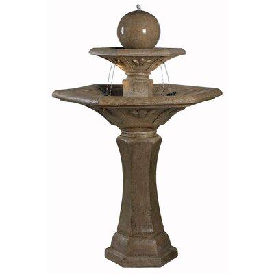 Kenroy Home 50325DT Provence Dark Travertine Outdoor Floor Fountain
