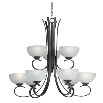 Garfield 9-Light Shaded Chandelier