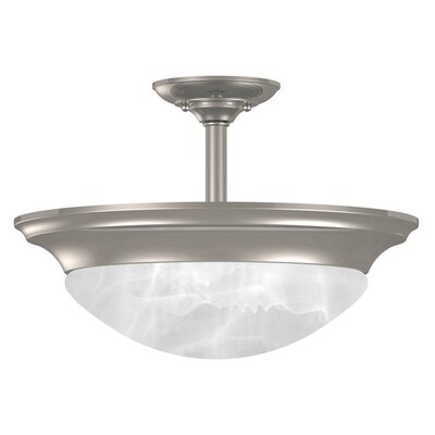 Dickens 2-Light Semi Flush Mount Fixture Finish: Brushed Steel